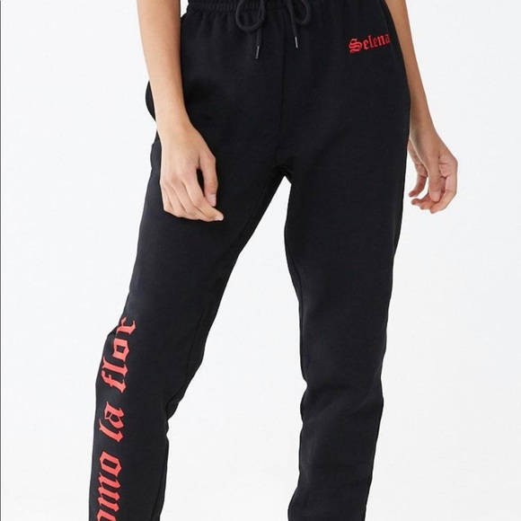 Black Selena collection sweatpants